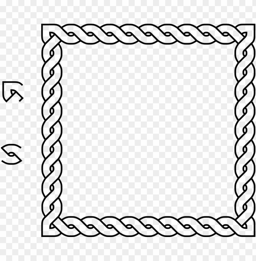 free PNG borders and frames rope celtic knot lasso - celtic knot square border PNG image with transparent background PNG images transparent