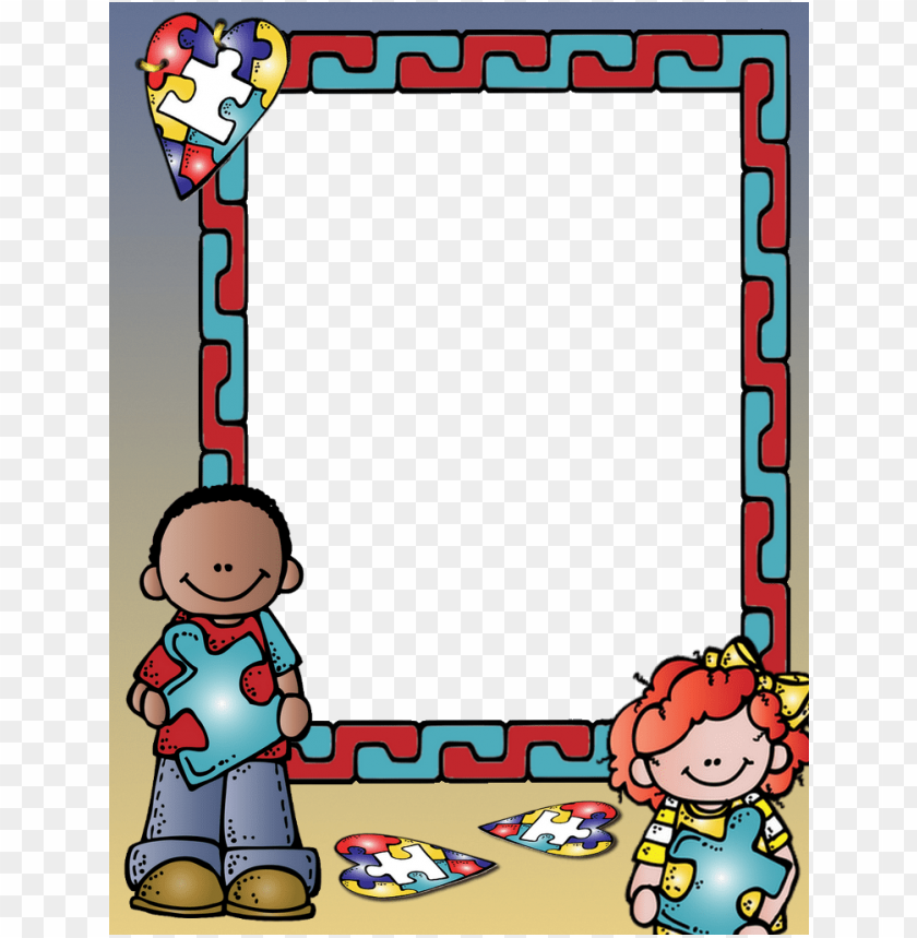 free PNG borders for paper, borders and frames, school binder - portadas para cuadernos de educadora con marco PNG image with transparent background PNG images transparent