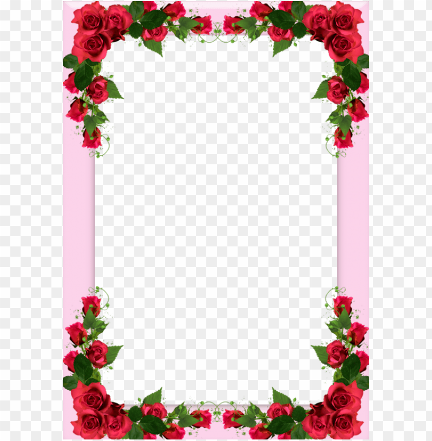 free PNG borders for paper, borders and frames, special pictures, - rose flower frame PNG image with transparent background PNG images transparent