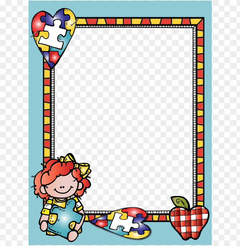 free PNG borders for paper, borders and frames, text frame, - portadas para cuadernos de educadora con marco PNG image with transparent background PNG images transparent