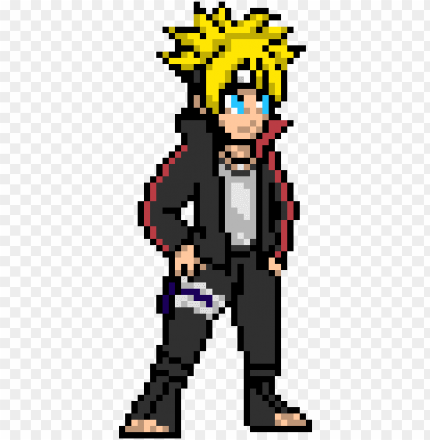 Boruto Pixel Art Png Image With Transparent Background
