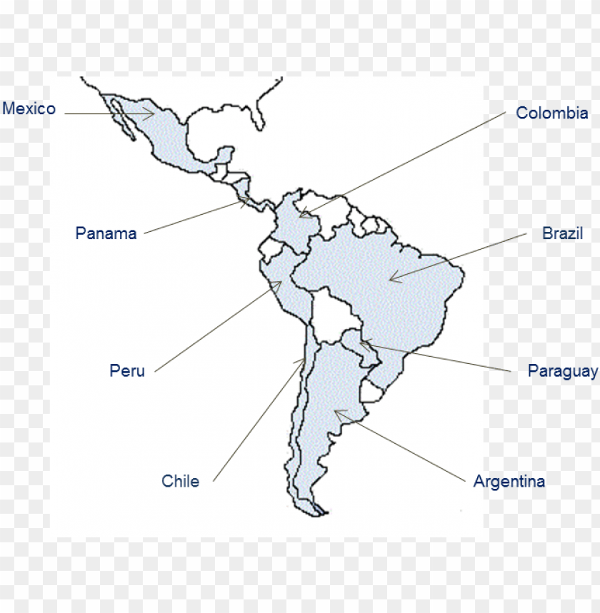 free PNG bo's network in south america includes mexico, brazil, - map of south america PNG image with transparent background PNG images transparent