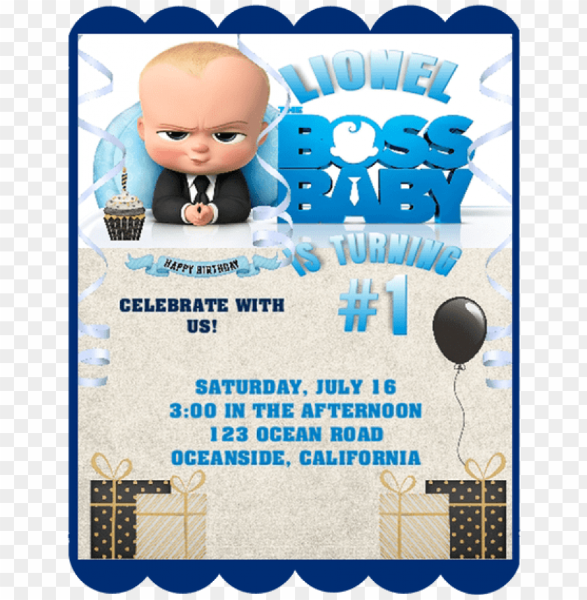 Boss Baby Birthday Party Keepsake Bottle Invitation Boss Baby Birthday Invitatio Png Image With Transparent Background Toppng