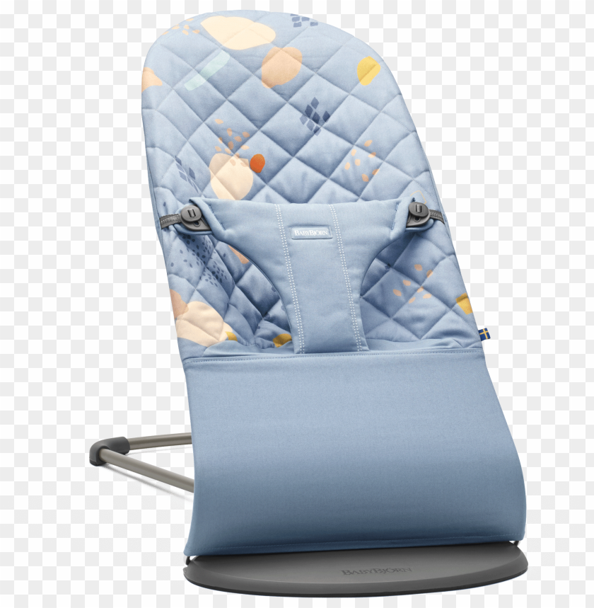 free PNG bouncer bliss limited edition 2018 babybj rn organic - babybjorn bouncer bliss - dusk blue mesh PNG image with transparent background PNG images transparent