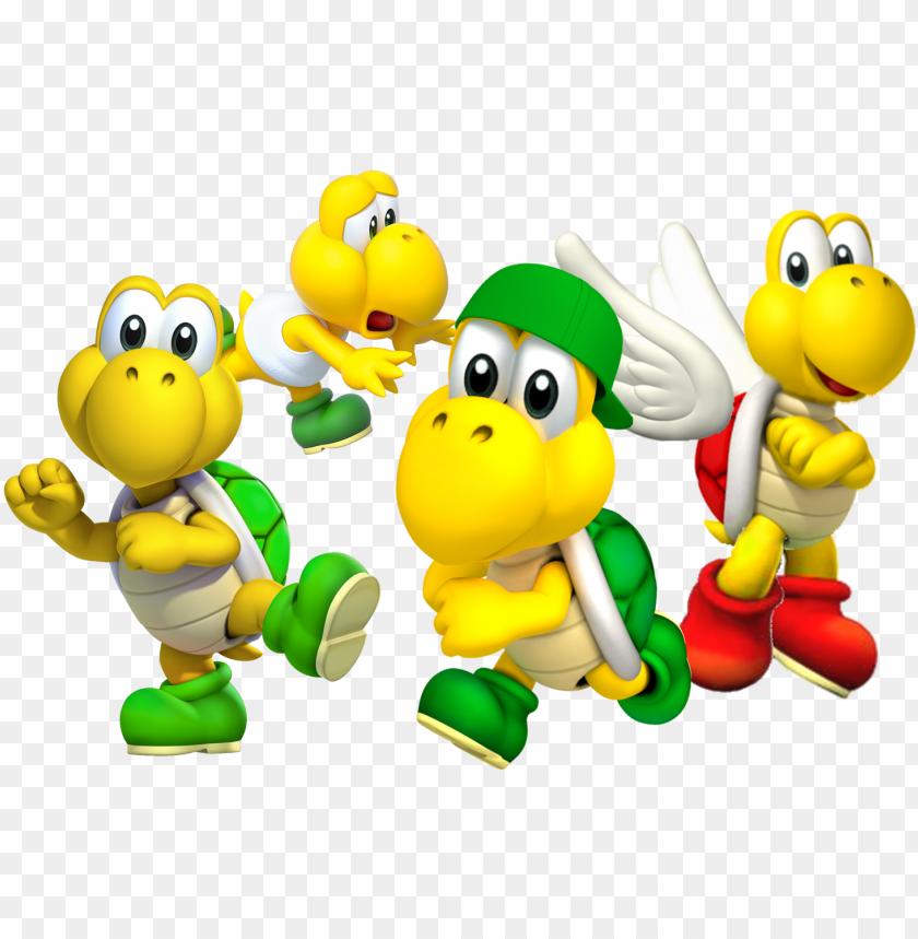Bowser Characetrs Gaming Luigi Mario Nintendo Koopa