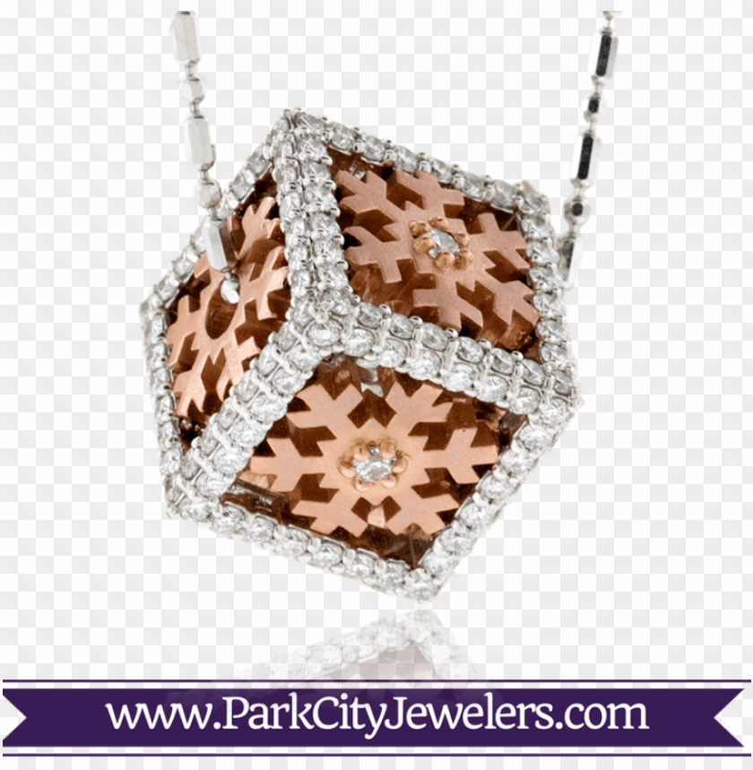 free PNG box diamond rose gold snowflake PNG image with transparent background PNG images transparent