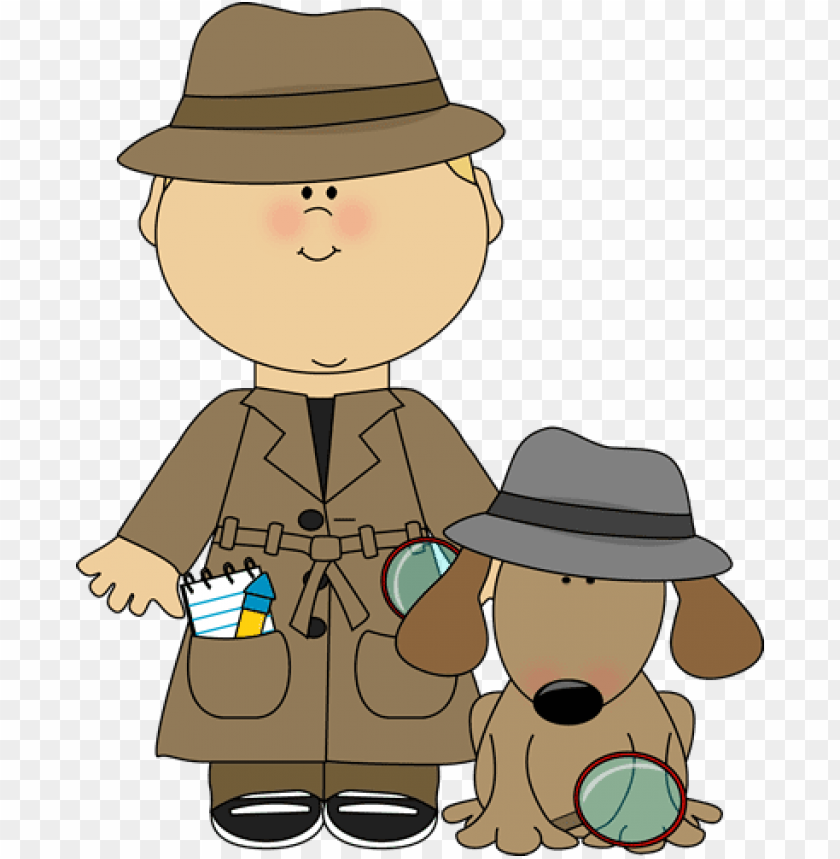 free PNG boy detective and dog clip art - boy and girl detectives PNG image with transparent background PNG images transparent