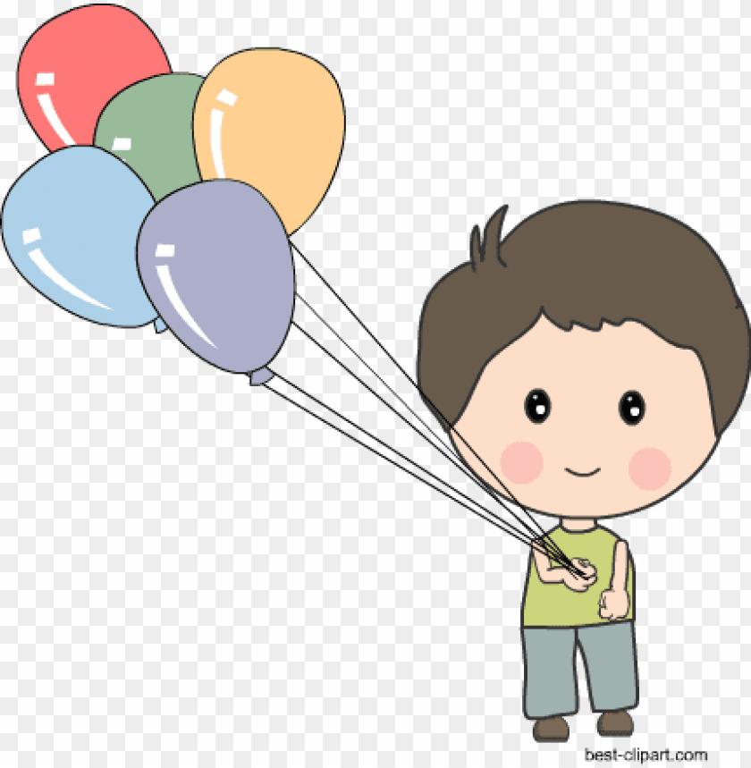 free PNG boy holding balloons free clip art - boy with balloons clipart PNG image with transparent background PNG images transparent