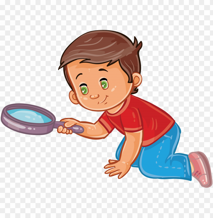 free PNG boy magnifying glass child clip art - clip art boy magnifying glass PNG image with transparent background PNG images transparent