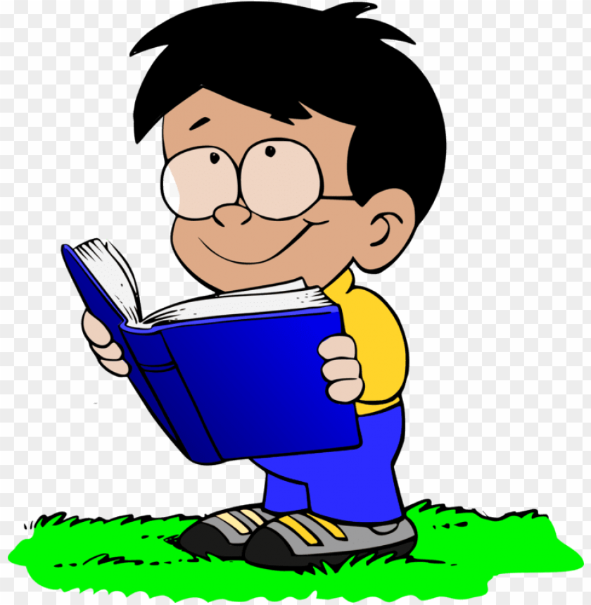 free PNG boy reading a book PNG image with transparent background PNG images transparent
