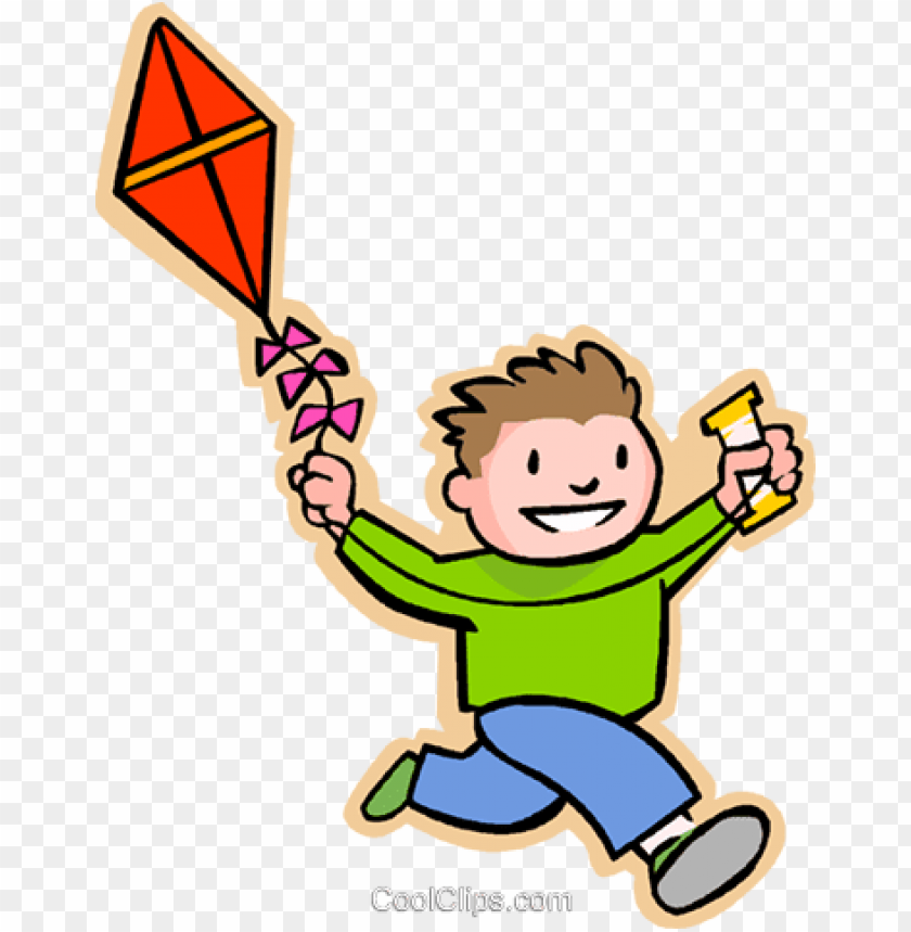 Boy With A Kite Royalty Free Vectorillustration Fly A Kite