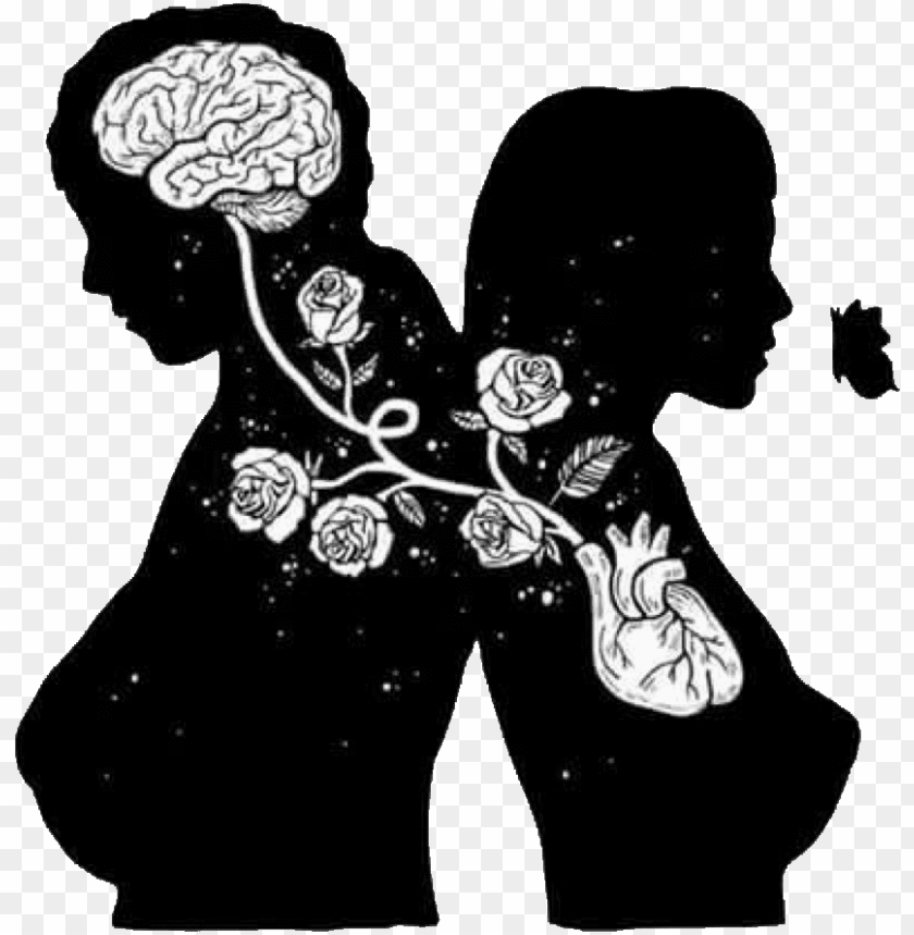 free PNG brain and heart art PNG image with transparent background PNG images transparent