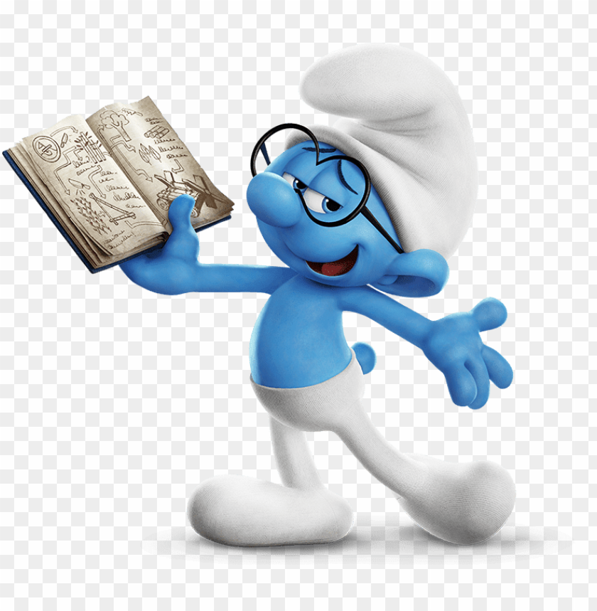 free PNG Download brainy smurf showing off his work clipart png photo   PNG images transparent