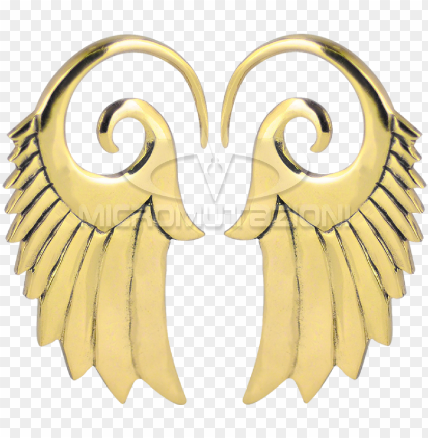free PNG brass wings spiral hooks ear - italy PNG image with transparent background PNG images transparent