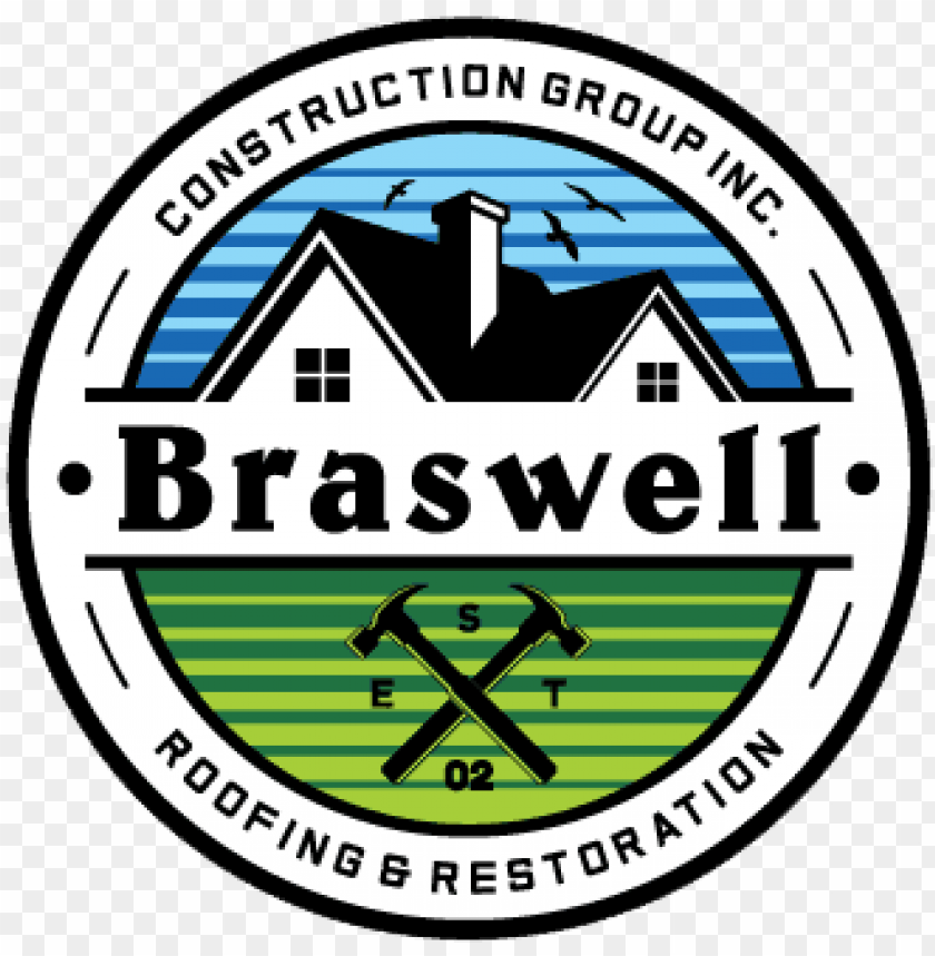 free PNG braswell construction group, inc logo - braswell construction group, inc. roofing & restoratio PNG image with transparent background PNG images transparent