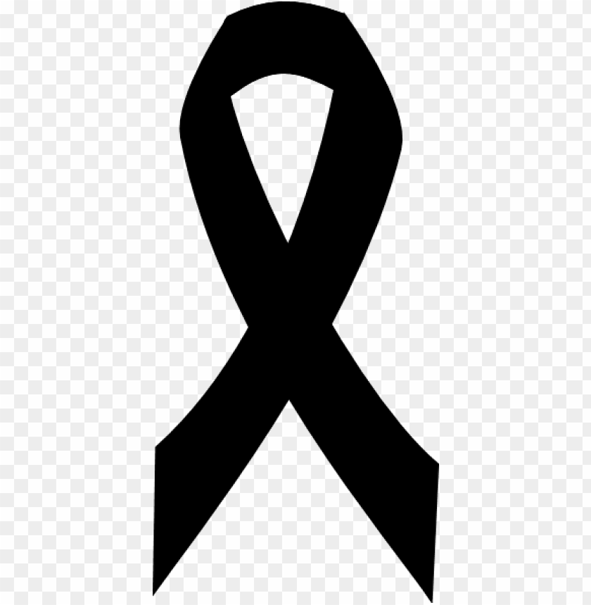 Breast Cancer Ribbon In Black Png Image With Transparent