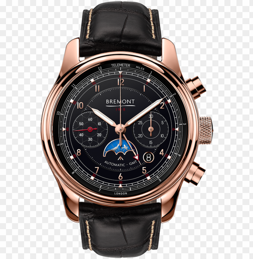 free PNG bremont 1918 rose gold watch front view - bremont 1918 PNG image with transparent background PNG images transparent