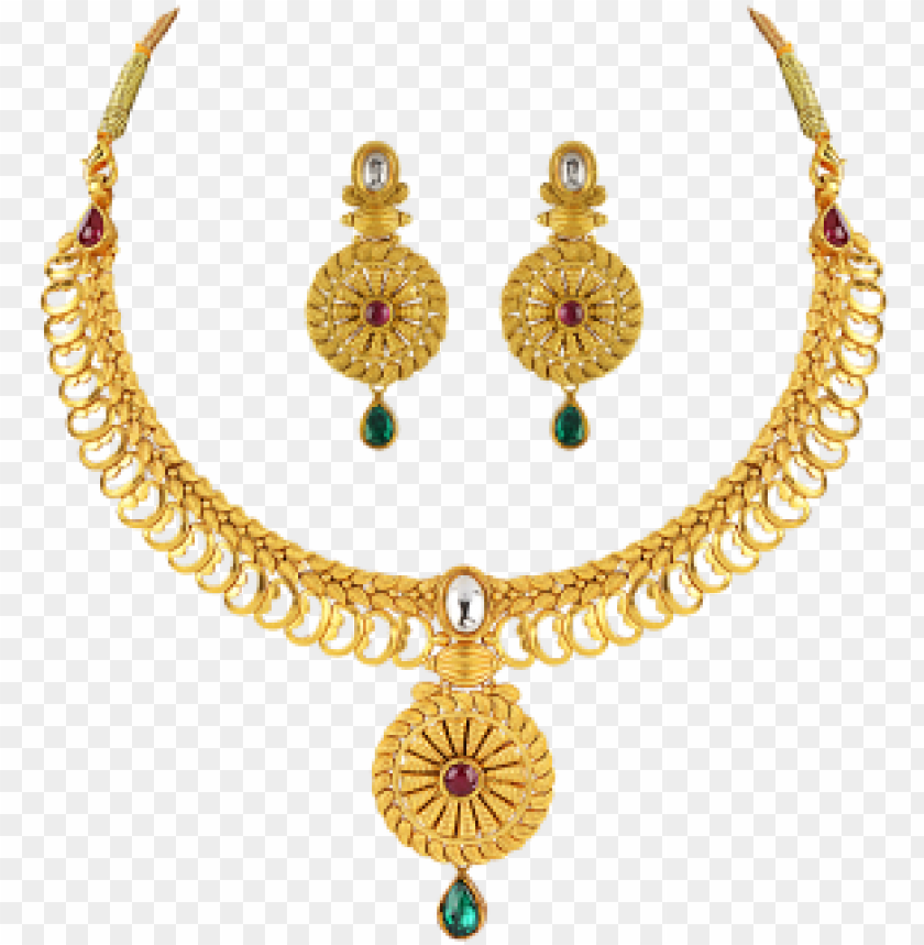 free PNG bridal gold jewellery sets online buy gold earrings - necklace with earrings set gold PNG image with transparent background PNG images transparent