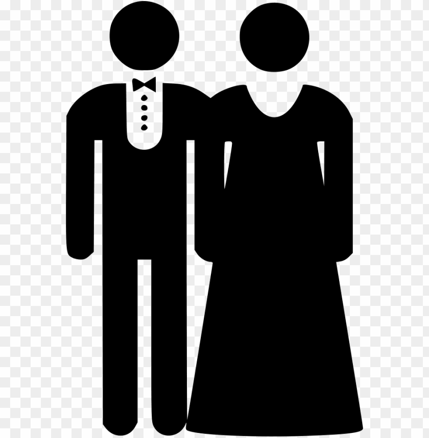 free PNG bride couple groom marriage comments - bride and groom icon black PNG image with transparent background PNG images transparent