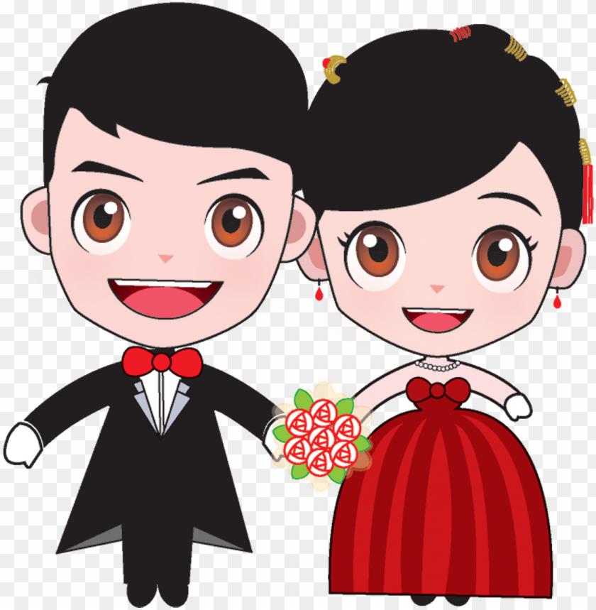 free PNG bridegroom marriage cartoon wedding bride and - wedding bride groom cartoo PNG image with transparent background PNG images transparent