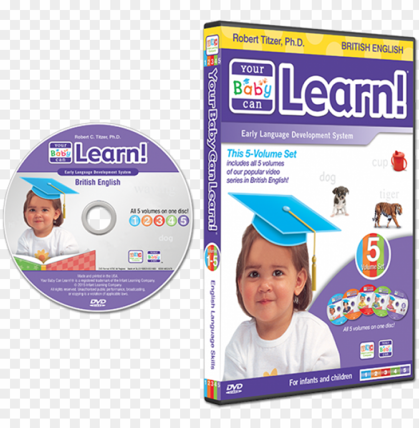 free PNG british english dvd case - your baby can learn! special edition 4-level kit PNG image with transparent background PNG images transparent