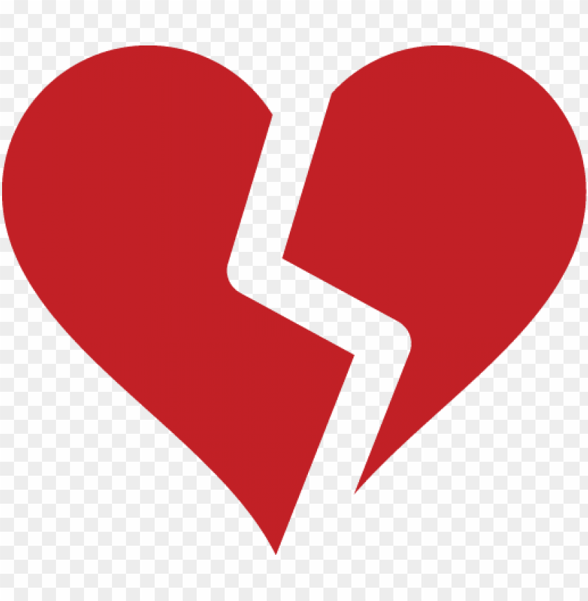 free PNG broken heart silhouette - red broken heart PNG image with transparent background PNG images transparent