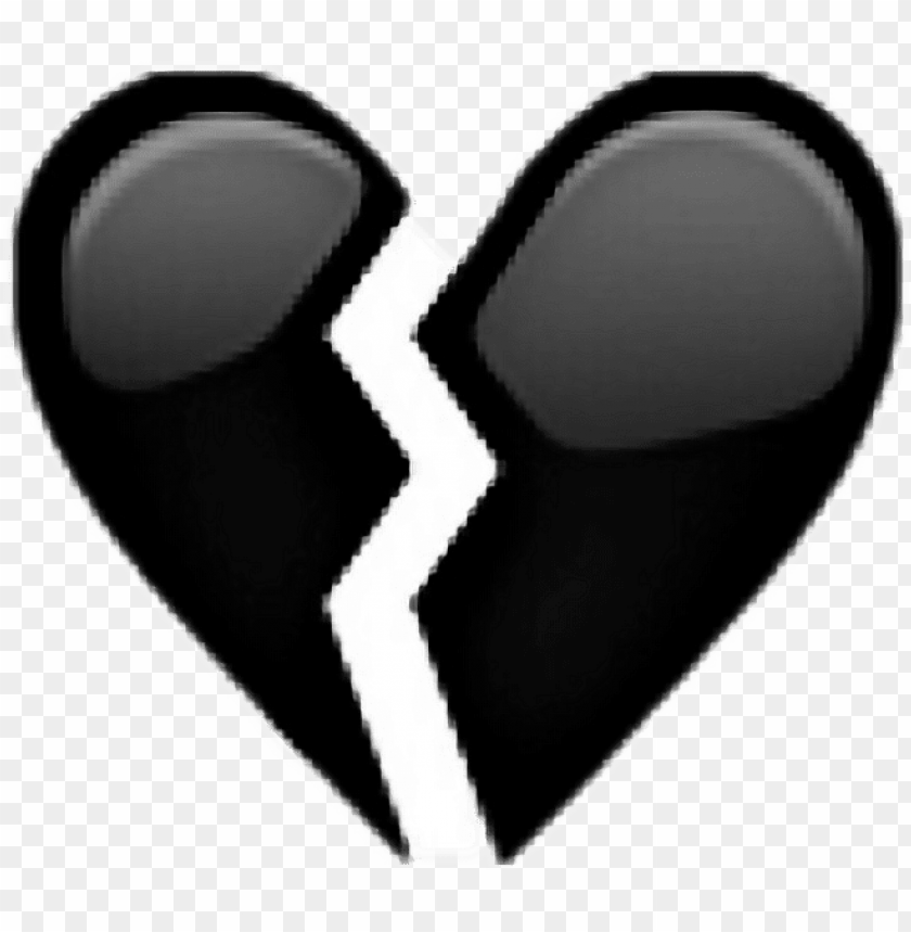 free PNG broken sad unhappy tumblr - broken black heart PNG image with transparent background PNG images transparent