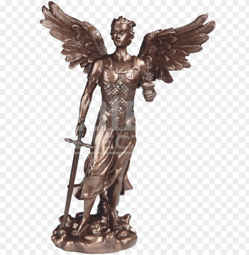 free PNG bronze archangel jehudiel statue - bronze sculpture PNG image with transparent background PNG images transparent