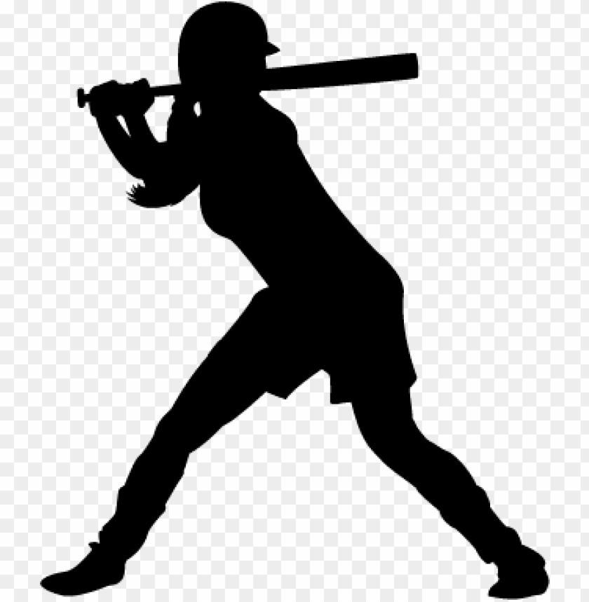 free PNG browse and download softball png pictures - softball player silhouette PNG image with transparent background PNG images transparent