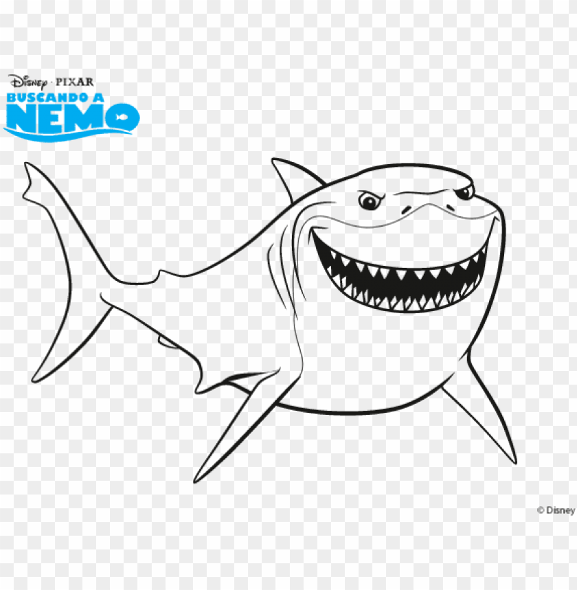 Bruce Finding Nemo Coloring Page - Coloring Home | 859x840