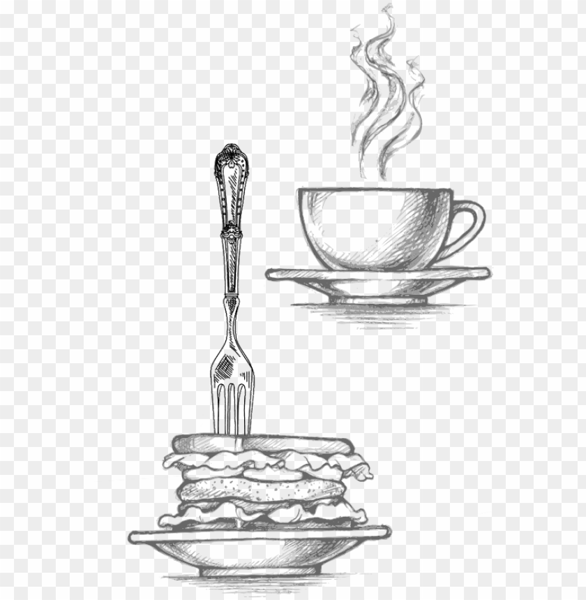 free PNG brunch / breakfast - sketches and drawing with the theme breakfast PNG image with transparent background PNG images transparent