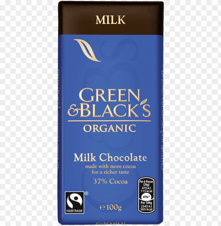 free PNG &b's milk 100g bar - green & black's organic - milk chocolate, 100 PNG image with transparent background PNG images transparent