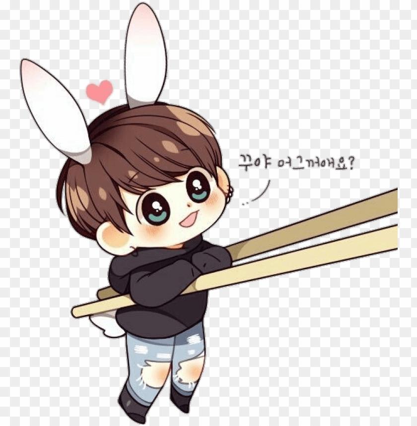 bts jungkook chibi bunny cute sticker vyiiu png jungkook bts jungkook cartoon drawi 11563371049gcbdp9jqkw
