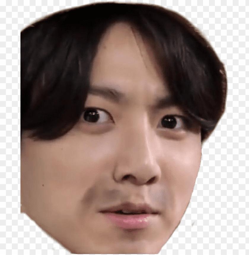 free PNG #bts #meme #momo #jungkook - jungkook bts meme face PNG image with transparent background PNG images transparent