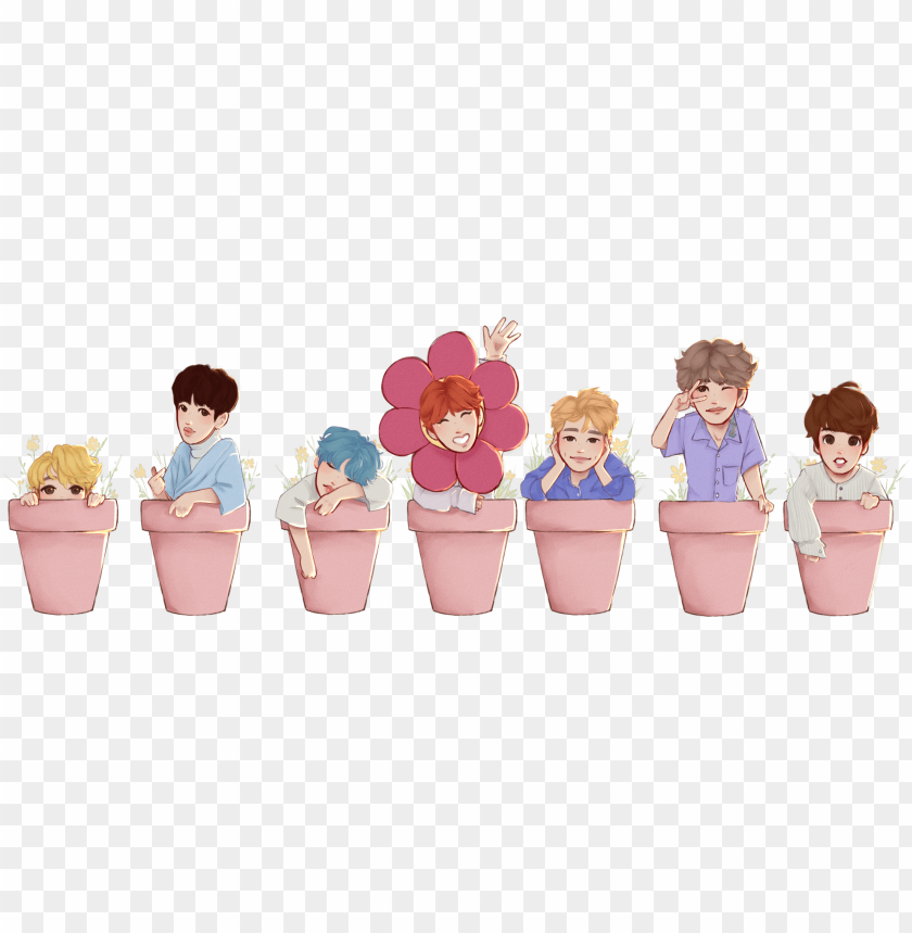free PNG bts plant pot stickers individual - bts png individual PNG image with transparent background PNG images transparent