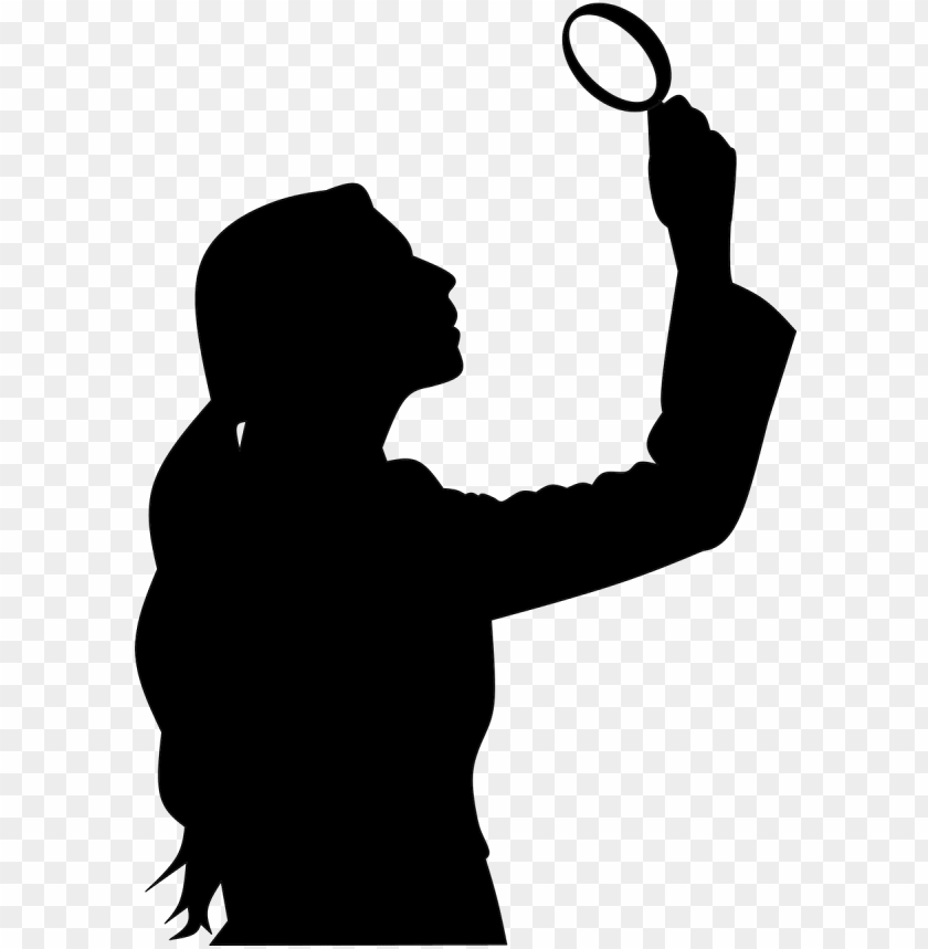 "free PNG ""btw, just love your new moniker, the « elle woods - woman silhouette magnifying glass PNG image with transparent background PNG images transparent"
