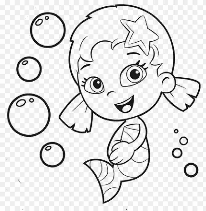 Bubble Guppies Coloring Pages - Guppie Bubble Coloring Pages Oona PNG Image  With Transparent Background TOPpng