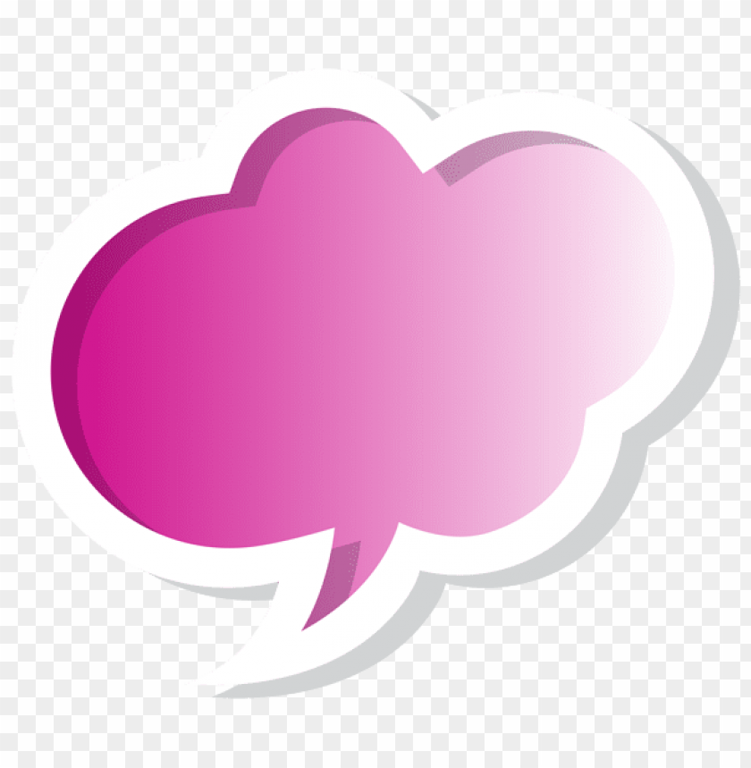 free PNG Download bubble speech cloud pink clipart png photo   PNG images transparent