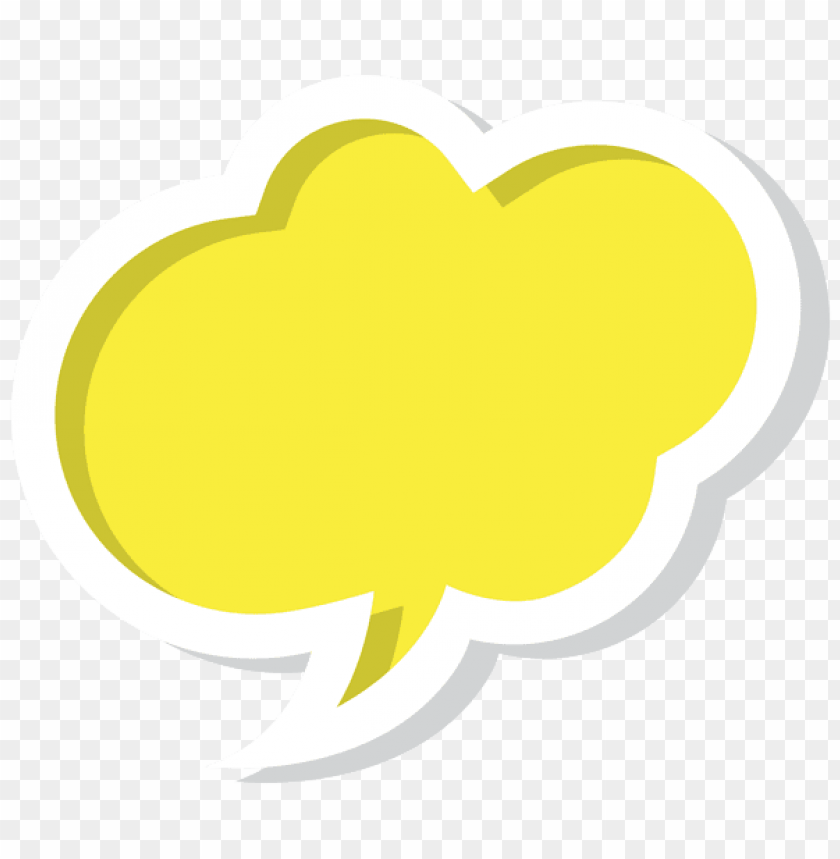 free PNG Download bubble speech cloud yellow clipart png photo   PNG images transparent