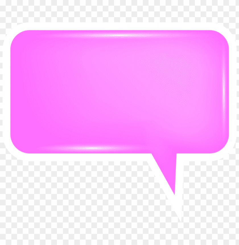 free PNG Download bubble speech pink clipart png photo   PNG images transparent