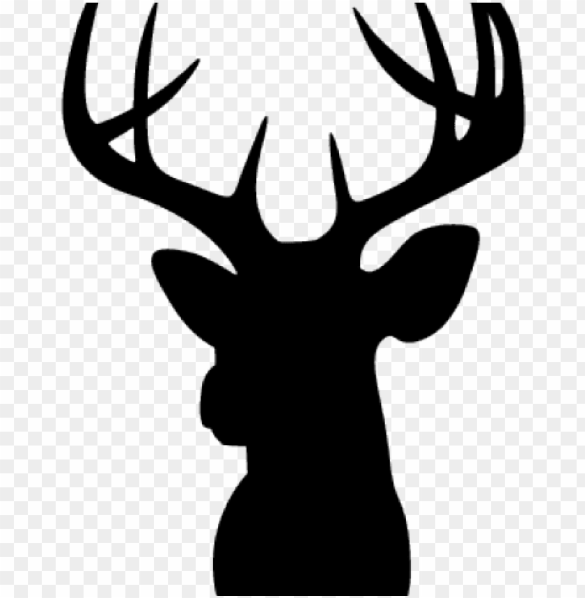 free PNG buck clipart moose head - deer head silhouette PNG image with transparent background PNG images transparent