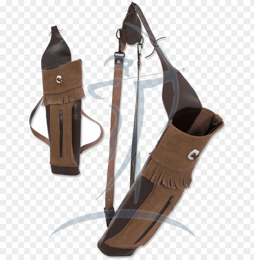 free PNG buck trail big stack leather/suede back quiver [pkr - bowie knife PNG image with transparent background PNG images transparent