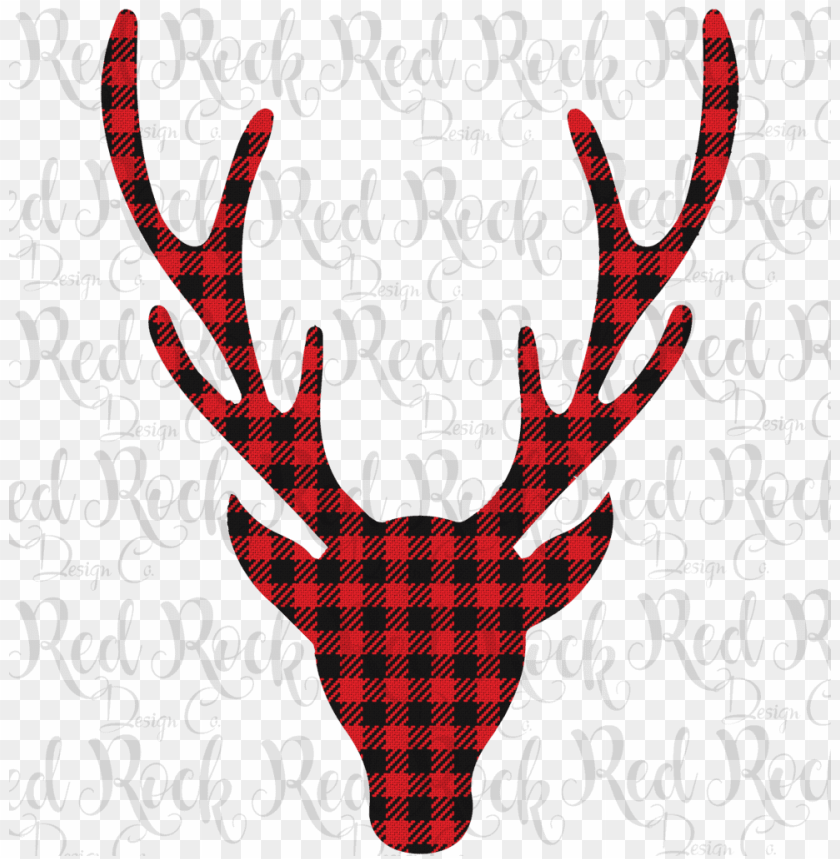free PNG bufflalo plaid deer head - deer head profile clipart black and white PNG image with transparent background PNG images transparent