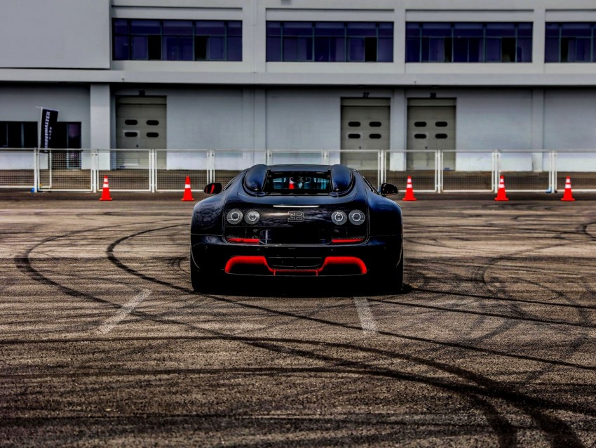 Bugatti Veyron Bugatti Sports Car Rear View Background Toppng
