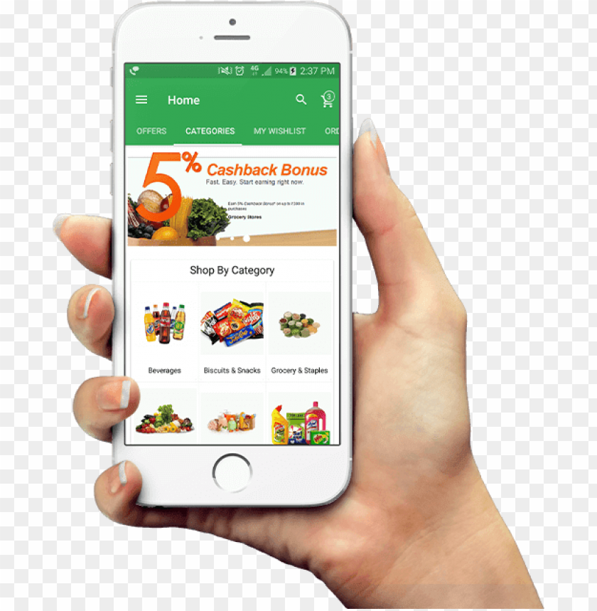 free PNG build your unique grocery delivery mobile app - mobile phone PNG image with transparent background PNG images transparent
