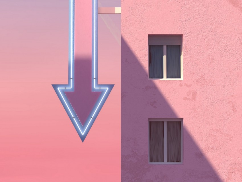 free PNG building, arrow, pointer, signboard, pink background PNG images transparent