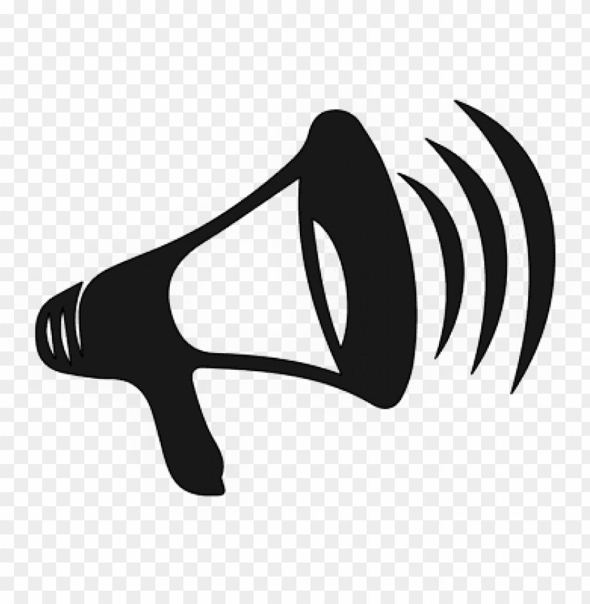 free PNG bull horn icon - megaphone clip art PNG image with transparent background PNG images transparent