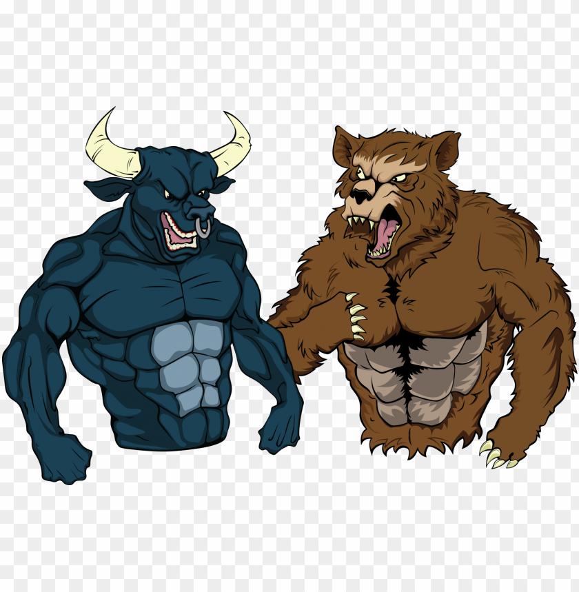 free PNG bulle & bär - trader PNG image with transparent background PNG images transparent