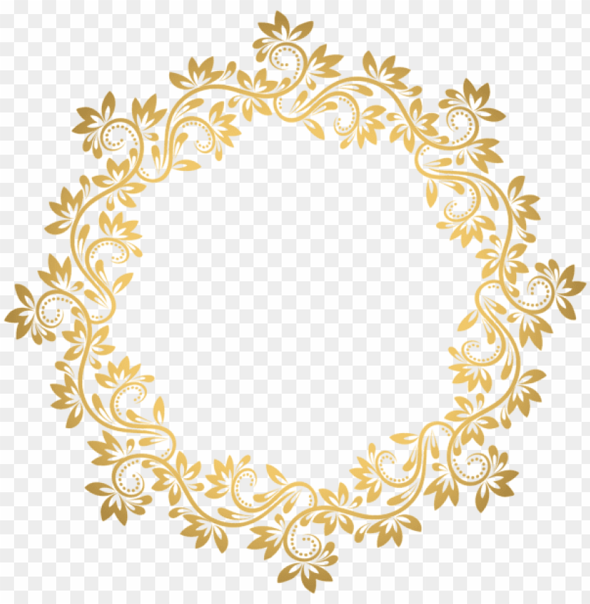 free PNG bullet journal art, flower frame, round border, sissi, - transparent background gold circle border png - Free PNG Images PNG images transparent