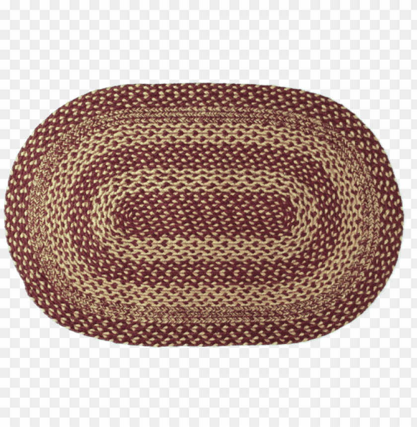 free PNG burgundy tan jute rug oval 24x36 - vhc brands burgundy (red)/tan area rug; oval 2' x 3' PNG image with transparent background PNG images transparent